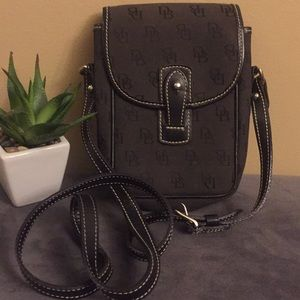 Authentic Dooney and Bourke Binocular Bag Gray/Blk